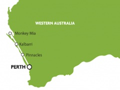 ウェストコーストアドベンチャー・モンキーマイア・ピナクルズ宿泊付3泊4日ツアー・Real Aussie社[パース発]
