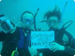 PADIオープンウォーター&アドバンスセットコース4日間又は5日間[Dive 7Seas]