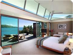 ハミルトン島 ヴィラ(ヨットクラブ)のベッドルーム
