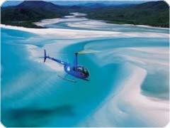 ホワイトヘブンビーチ&リーフワールドへ行くヘリコプター遊覧飛行ツアー・ハミルトン島発[ベスト・オブ・ボース・ワールド]
