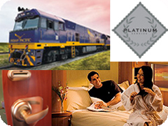 ����ǥ�����ѥ��ե��å��������ξ�ץ���ʥ����ӥ�-(Indian Pacific Platinum Service )
