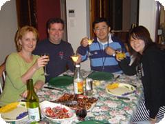 オーストラリアの一般ご家庭訪問、オージー・ホームビジット夕食ご一緒ツアー・ケアンズ発