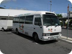 ケアンズ市内・ノーザンビーチ・ポートダグラス空港送迎シャトルバスサービス
