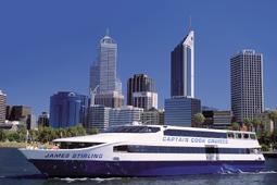 スワン川・ランチクルーズ・Captain Cook Cruises[パース発]