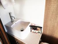 シングル個室の洗顔用シンク