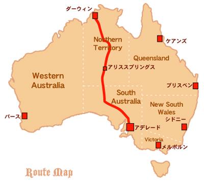 ザガン鉄道ルートマップ