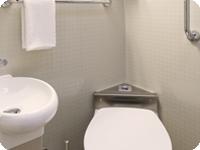 2名様個室のトイレ