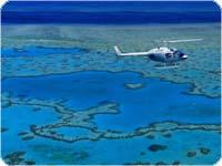 ハミルトン島 ヘリコプターハートリーフツアー