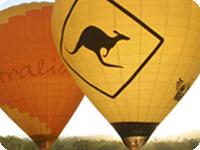 ホットエアーで行くゴールドコースト熱気球