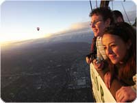メルボルンで熱気球