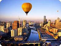 メルボルンで熱気球・ヤラバレーで熱気球